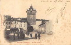 Verdun Sur Garonne Place De L'Horloge (dos non divisé) - Verdun-sur-Garonne