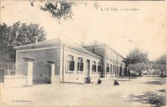 Le Teil Les Ecoles (voir verso commissaire militaire gare de Vaise - Le Teil