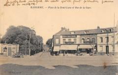 Maromme Place De La Demi Lune Et Rue De La Gare (cliché pas courant - Maromme