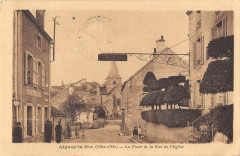 Aignay Le Duc La Poste Et La Rue De L'Eglise - Aignay-le-Duc