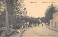 Eaubonne L'Eglise Et La Rue De Paris - Eaubonne