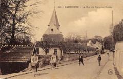 Eaubonne Rue De Paris Et Eglise (cpa émaillée - Eaubonne