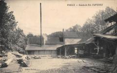 Voulx Scierie De Bois Favenez (cpa rare - Voulx