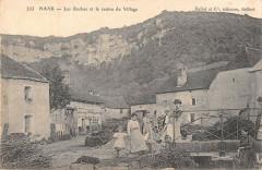 Nans Les Roches Et Le Centre Du Village (cpa pas courante - Nans