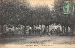 Manthes La Place Des Sources - Manthes