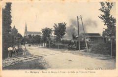 Gracay Route De Gracay A Vatan Arrivee Du Train De Vierzon - Graçay