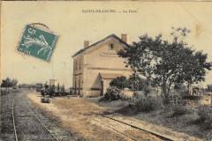 Saint Branchs La Gare (cpa toilée émaillée - Maillé