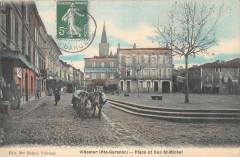 Villemur Place Et Rue Saint Michel - Saint-Michel