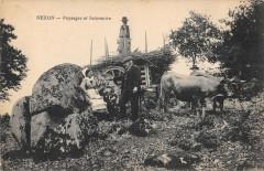 Nexon Paysage Et Souvenir Attelage Scene D'Agriculture - Nexon
