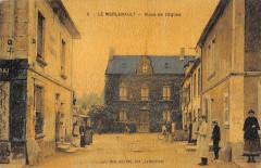 Le Merlerault Place De L'Eglise (cpa émaillée - Le Merlerault