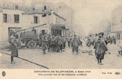 Explosion De Saint Denis Une Grande Rue Et Les Maisons Voisines 93 Saint-Denis