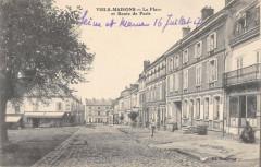 Viels Maisons La Place Et Route De Paris - Viels-Maisons