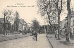 Viroflay Route Nationale Et Les Arcades Vers Paris (cliché pas courant - Viroflay
