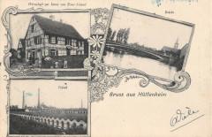 Gruss Aus Huttenheim Fabrik (cliché rare - Huttenheim