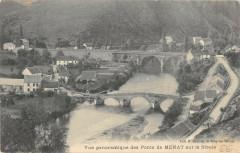 Vue Panoramique Des Ponts De Menat Sur La Sioule - Menat