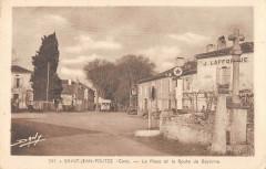 Saint Jean Poutge La Place Et Route De Bayonne - Saint-Jean-Poutge