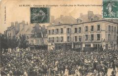 Le Blanc Concours De Gymnastique La Foule Place Du Marche - Le Blanc