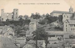 Env.rodez Chateau Et Eglise De Bertholene - Bertholène