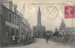 Augan La Rue Principale Arrivee De Beignon - Augan