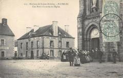 Env.de Saint Jean Brevelay Plumelec Une Noce A La Sortie De L'Eglise - Plumelec
