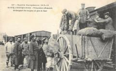 Guer Coetquidan Prisonniers Allemands Dechargeant Des Wagons En Gare rare - Guer