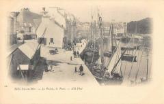 Belle Isle En Mer Le Palais Le Port (cliché très rare - Le Palais