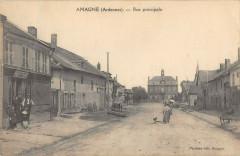 Amagne Rue Principale (cpa pas courante - Amagne