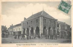 Longpre Les Corps Saints La Place Mairie Et Halles - Long