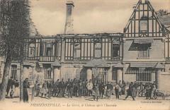 Fressenneville La Greve Le Chateau Apres L'Incendie - Fressenneville