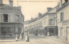 Saint Gratien Rue De Paris Pres De La Place D'Armes (cpa pas courante - Saint-Gratien