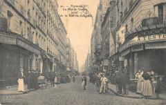 La Rue de Vanves prise de la Rue de Gergovie 75 Paris 14e
