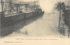 Choisy Le Roi 1910 Train Sur La Voie Inondee 94 Choisy-le-Roi