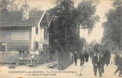 Champigny Sur Marne Le Pont De Champigny Et La Maison Gautrin 94 Champigny-sur-Marne