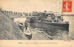 Ablon Quai De La Baronnie Arrivee D'Un Bateau Parisien 94 Val de Marne