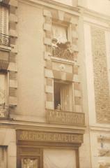 Choisy Le Roi Carte Photo Mercerie Papeterie Menuiserie (verso voir 94 Choisy-le-Roi