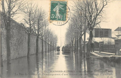 Maisons Alfort Inondations 1910 La Rue De La Gare Demenagement Artillerie 94 Maisons-Alfort
