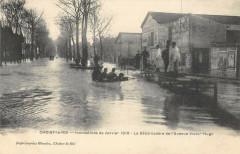 Choisy Le Roi Inondations 1910 Le Debarcadere Avenue Victor Hugo 94 Choisy-le-Roi