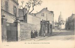 Rue de l'Abreuvoir à Montmartre - Paris 18e