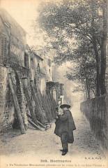 Montmartre - Un Troubadour Montmartrois pleurant sur les ruines de la rue Saint-Vincent - Paris 18e