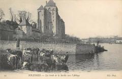 Solesmes Les Bords De La Sarthe Vers L'Abbaye - Solesmes