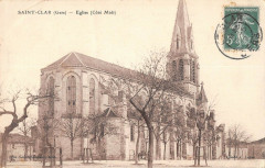 Saint Clar Eglise Cote Midi - Saint-Clar