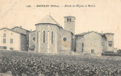 Brindas Abside Eglise Et Mairie - Brindas