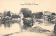 Nogent Sur Seine Pont Saint Nicolas Et Usine Des Deux Ponts - Nogent-sur-Seine
