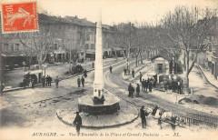 Aubagne Vue D'Ensemble De La Place De La Grande Fontaine - Aubagne