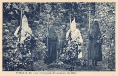 Utelle Les Representants Des Anciennes Confreries - Utelle