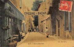 Alet Les Bains Epicerie Bazar Rue Du Seminaire (jolie cpa colorisée - Alet-les-Bains