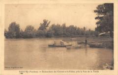 Sorgues Embouchure De L'Ouveze Et Le Rhone Pres Le Pont De La Traille - Sorgues
