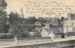 Gorron La Ville Vue Du Pont De Herce - Gorron
