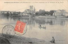Couthures Sur Garonne Le Pont Suspendu Sur La Garonne Et Les Quais - Couthures-sur-Garonne