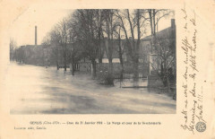Genlis Crue Du 21 Janvier 1910 La Norge Et Cour De La Gendarmerie - Genlis